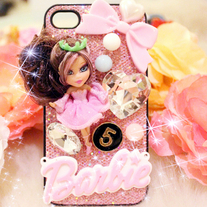 New Bling Crystal Sparkle Barbie Doll iPhone 4/4S Case #3