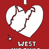 West Virginia love, 5x7 print