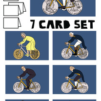 Coined wheeled bike Blank (no text) 7 card set