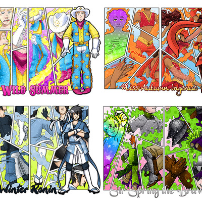 Shounen fight transformation prints
