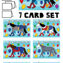 Unicorns Congrats 7 card set