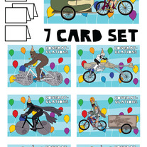 Star Wars on bike Congrats 7 card set