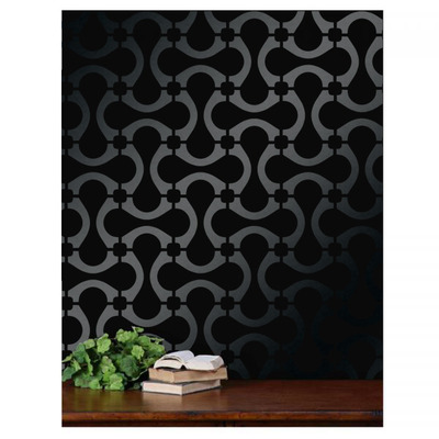 Copy of nautical rope circle chain lattice trellis allower pattern wall room decor stencil
