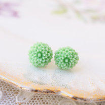 Tiny Dahlia Studs - 5 Color Choices