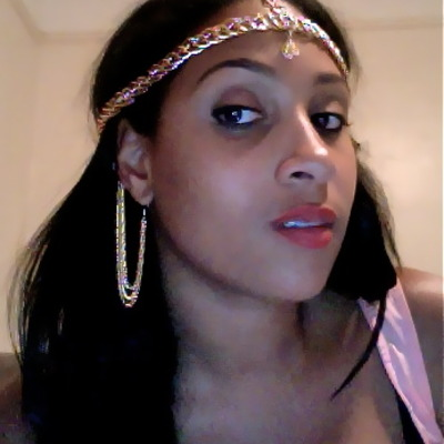 """exotic"" gold chain headpiece"