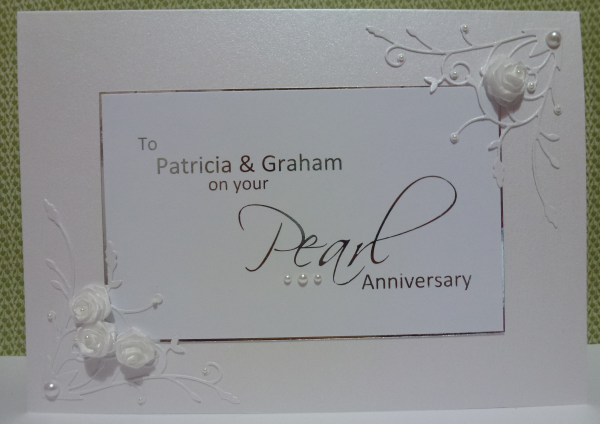 Lizy s house of cards pearl anniversary card yrs