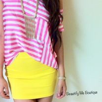 Candy Colored Slim Fit Skirts