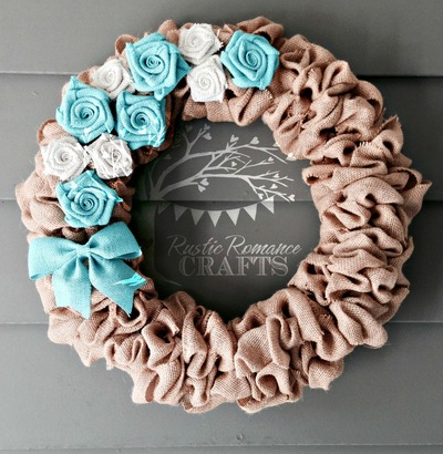 Customizable Burlap Wreath