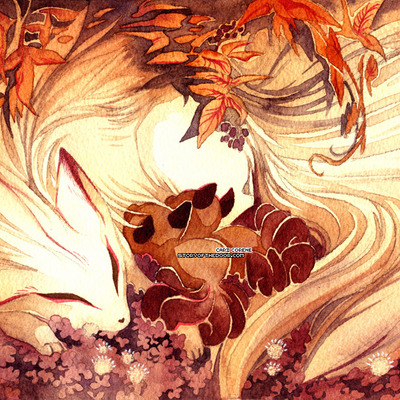 Ninetails and vulpix 4x6 postcard