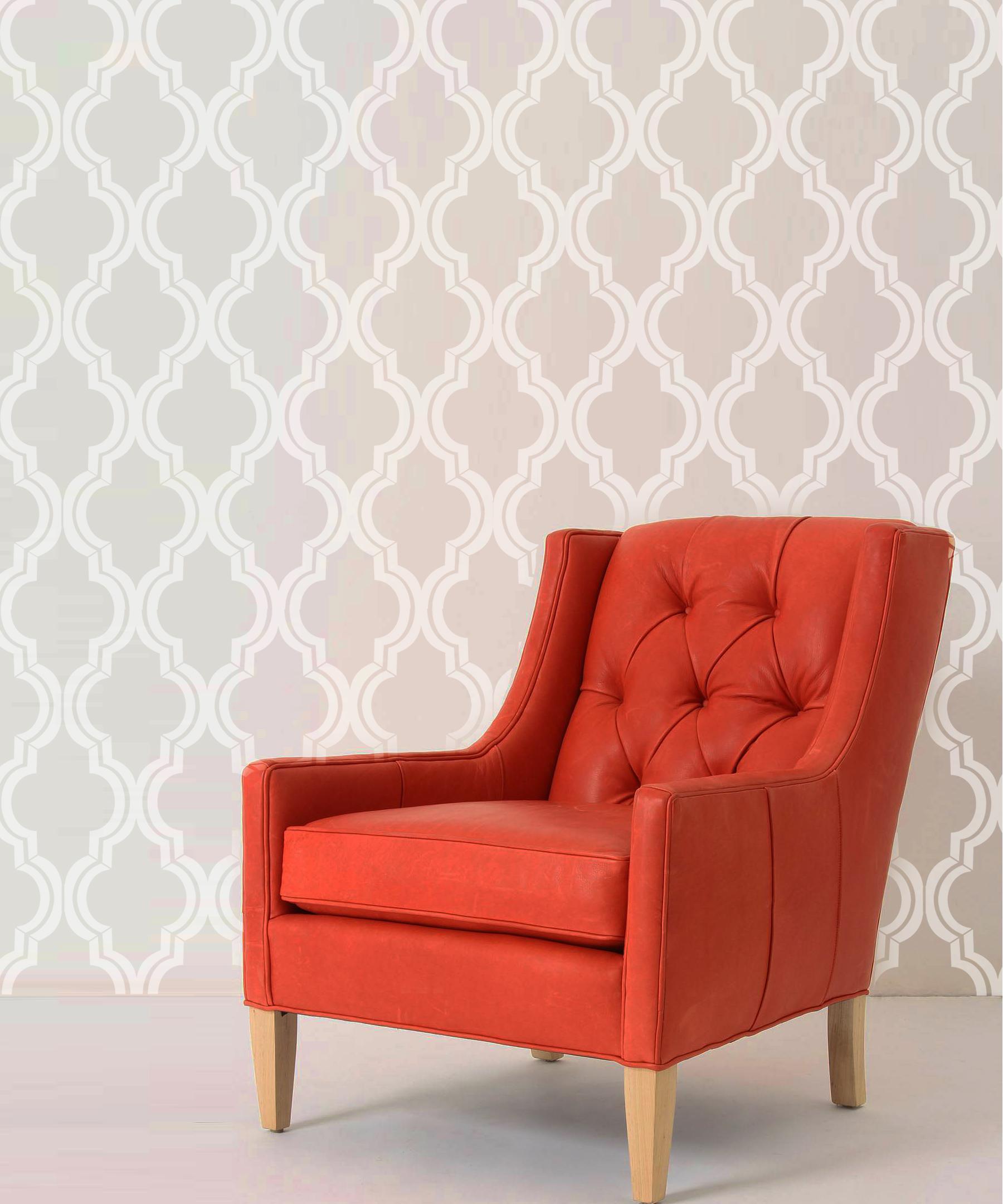 old world allover designer pattern stencil better than wallpaper ...