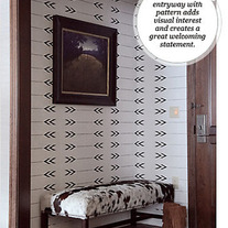 Geometric Wall Arrows pattern Allover Stencil better than wallpaper or vinyl decals Home Decor