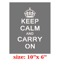 DIY Shirt Keep Calm and Carry ON Designer Pattern Stencil
