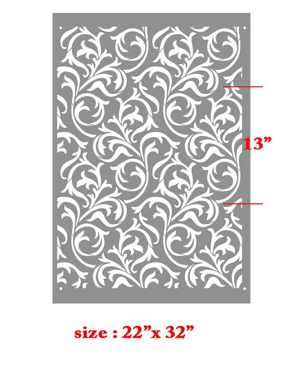 Oh so romantic heather geo scroll swirls modern wall - Modern wall stencil designs ...