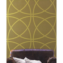 Bold Contemporary Geometric Circles Clean Look Modern 2 Designer Pattern Stencil for Walls Decor