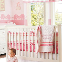 Pink Kissing Elephants, Beautiful Pattern for Girls Nursery Baby Room  Stencil for Walls Decor