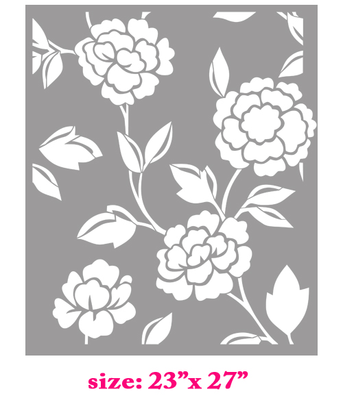 Chanel Stencil http://stencilboss.storenvy.com/products/508222-chanel-blossom-flower-allover-designer-damask-pattern-wall-stencil-home-deco
