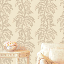 Clara Leafy Tree Stencil Forest Branches Designer Pattern for Walls Decor