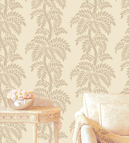 clara leafy tree stencil forest branches designer pattern for walls decor - Designer Walls