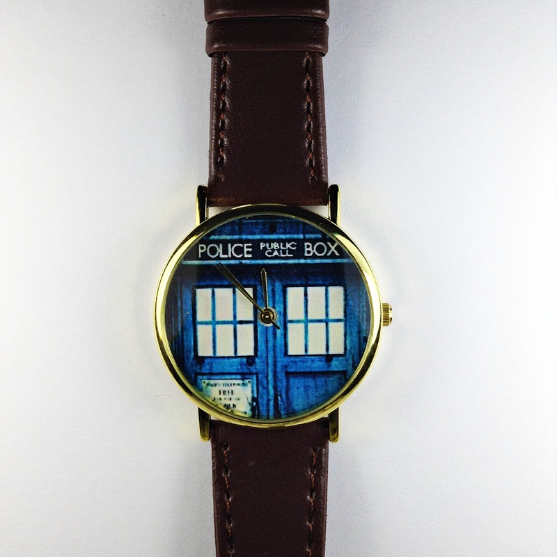 doctor who watch tardis vintage style leather watch mens watch doctor who watch tardis vintage style leather watch mens watch women watches