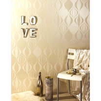 Nikita Sophisticated Lattice Swirls Wall Stencil Home Decor