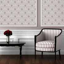 Sunshine Scallop Designer Pattern Wall Stencil Home Decor