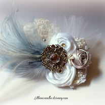Feather Brooch Headband