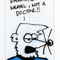 Sketch Card: Medical Weasel