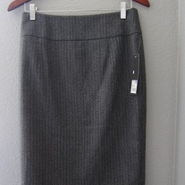 Merona Grey Pencil Skirt NWT