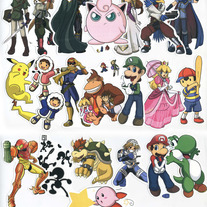 Stickers - Super Smash Bros. BRAWL -Veterans- Set of 21 (Fanart)