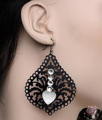 D2i Fashions Chandelier Heart Earrings Online Store