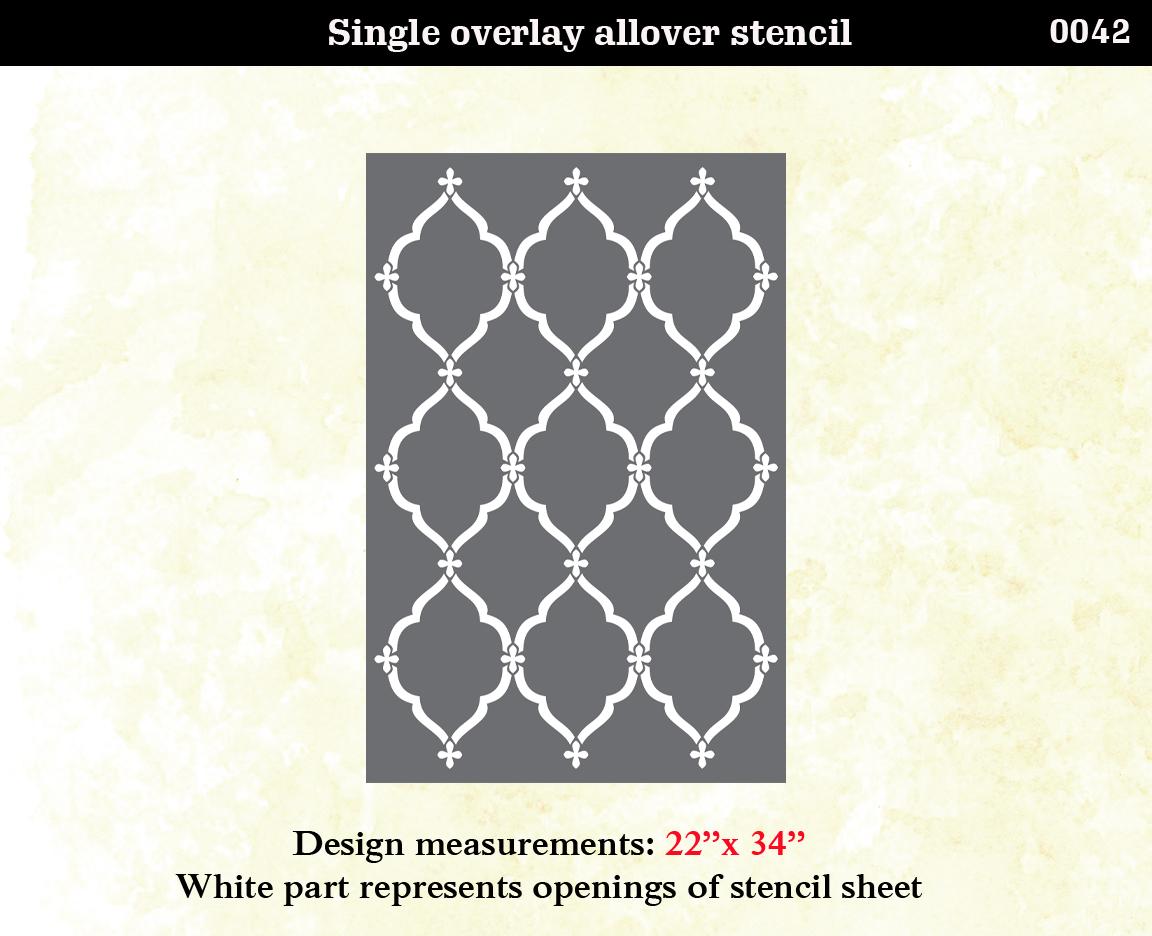 stencil boss lattice morrocan pattern wall stencil home decor