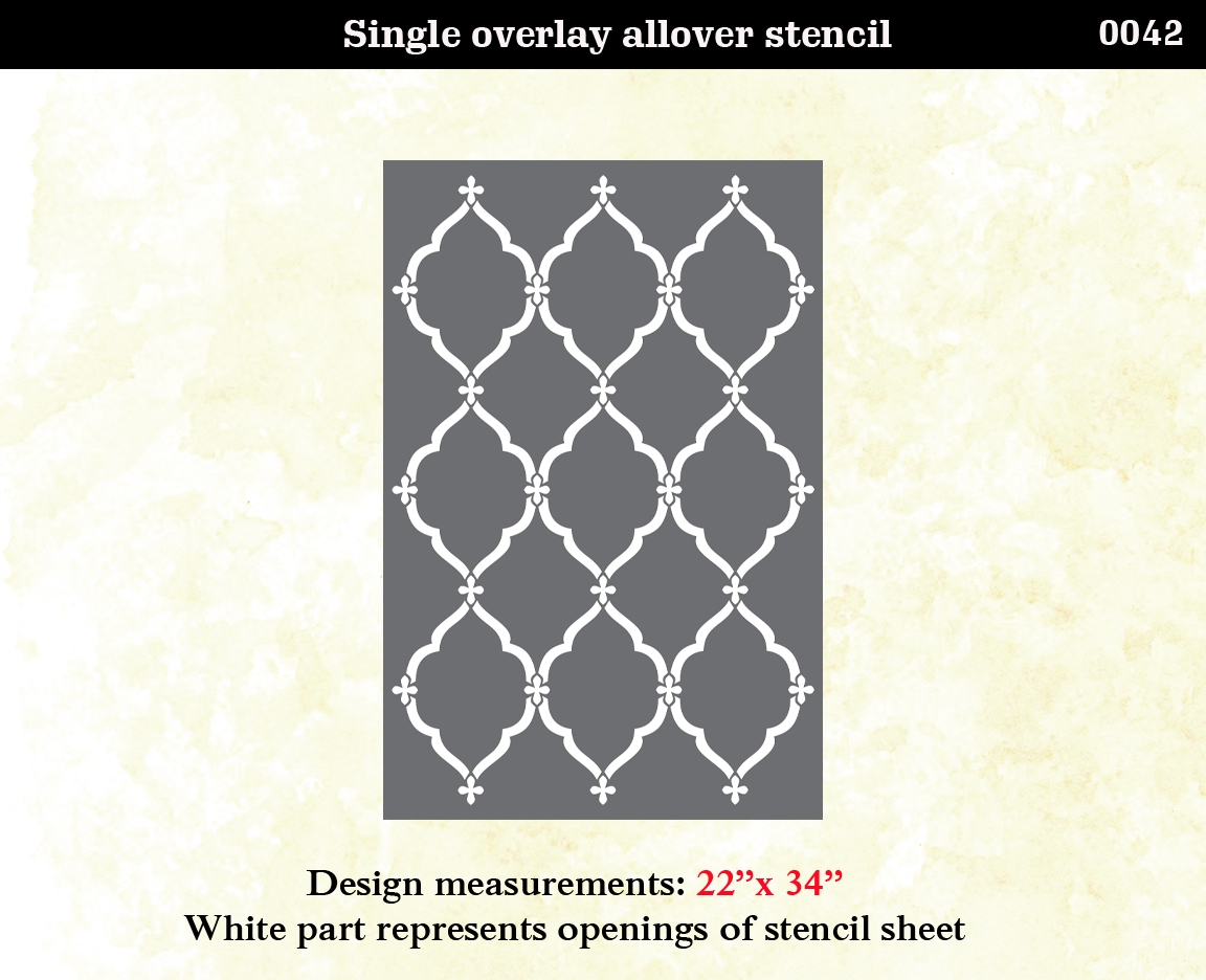 Lattice morrocan pattern wall stencil home decor on storenvy - Stencil patterns for walls ...