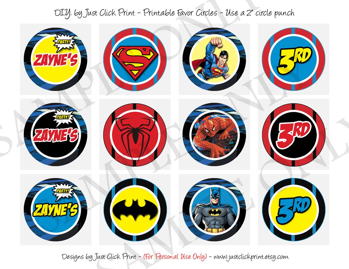 image about Printable Superman Logos identify Superheroes Emblems Batman Superman Spiderman Birthday Invitation Printable versus Basically Simply click Print