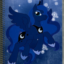 Notebook L - My Little Pony FiM: Princess Luna (Fanart)