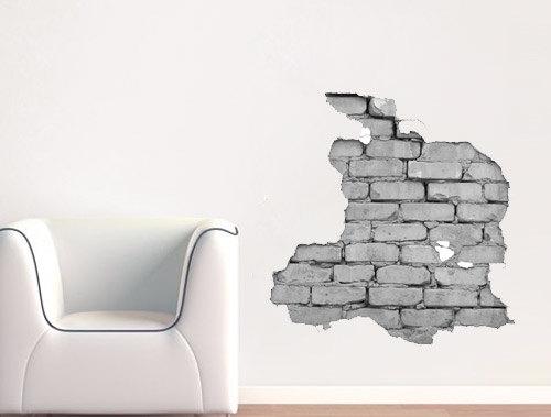 Effect Brick Wall Sticker For Housewares Moonwallstickerscom - Urban wall decals