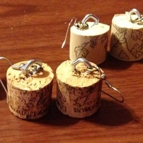 Wine & Dine Cork Earrings