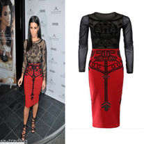 Kim K Celebrity Inspired Tribal Bodycon Dress