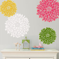 Wall Stencil Bold Statement Flower Dalia Large size Pattern Wall Room Decor