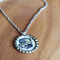 Hufflepuff Harry Potter Inspired Bottlecap Necklace