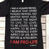 I AM PRO-LIFE T-shirt Black