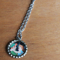 Peter Pan & Wendy Bottlecap Necklace