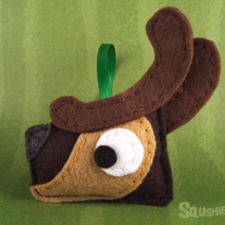 Felt Reindeer Ornament, Felt Christmas Ornament - Blitzen the Reindeer