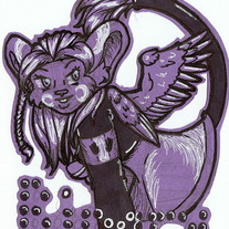 Black & White Badge Commission by Rachel Keslensky