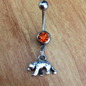 Grizzly Bear Belly Ring