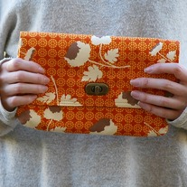 Mini Clutch - Orange Bloom
