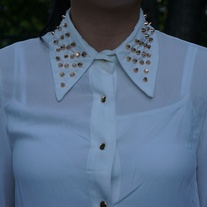 Spiked Collar Blouse