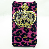 Pink Leopard Crown Case (iPhone 4 4s)