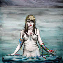 haunting ocean demon 8x10 art print - gothic deadly sins ghost