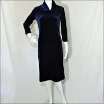 Tommy Hilfiger Long Sleeve Velvet Dress