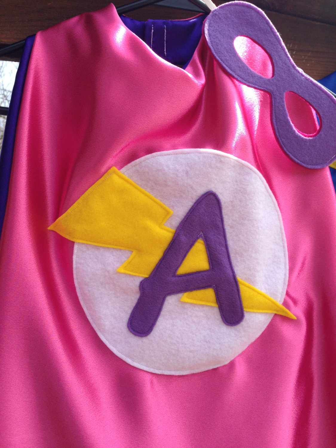 Personalized superhero cape with mask reversible for Cape designs